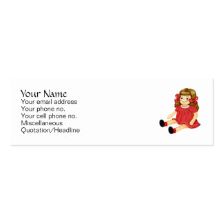 Red Ragdoll Double-Sided Mini Business Cards (Pack Of 20)