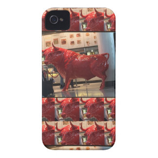 Red Raging Bull Heathrow Airport London England UK iPhone 4 Case