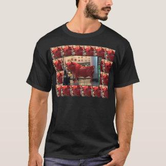 Red Raging Bull Heathrow Airport London England UK T-Shirt
