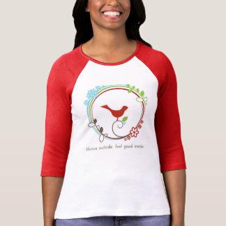 Red Raglan - Thrive in All Seasons T-shirt