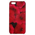 Red Rain Drop Petunias iPhone 5C Cases
