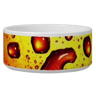 Red Rain Drops Dog Food Bowls