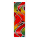 red rainbow bookmark business card