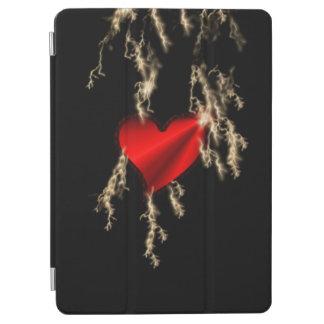 Red Rainbow Heart with Thunderbolt iPad Air Cover