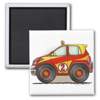 Red Rally Car Magnets