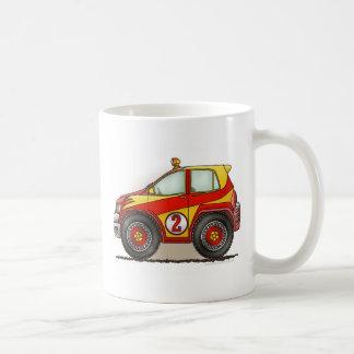 Red Rally Car Mugs