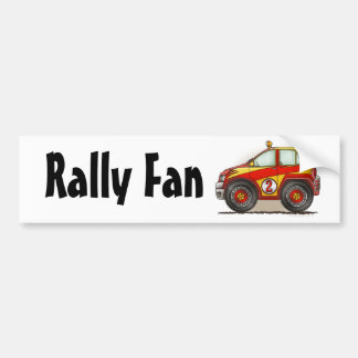 Red Rally Car Rally Fan Bumper Sticker