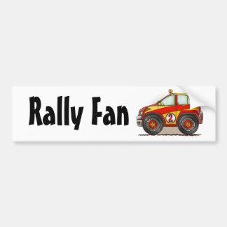 Red Rally Car Rally Fan Bumper Sticker