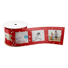 Red Random Dots Merry Little Christmas Satin Ribbon