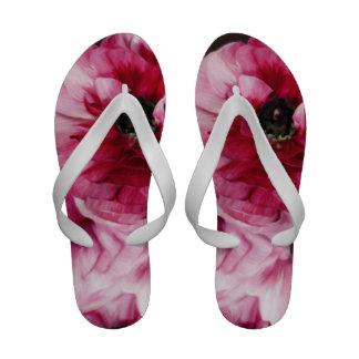 Red Ranunculus Flip Flops