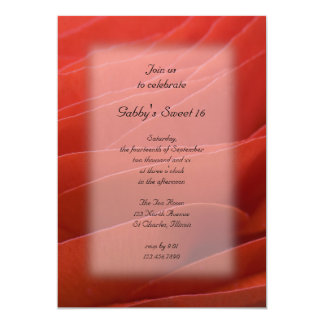 Red Ranunculus Sweet 16 Birthday Party Invitation