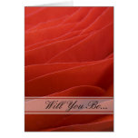 Red Ranunculus Will You Be My Bridesmaid Card