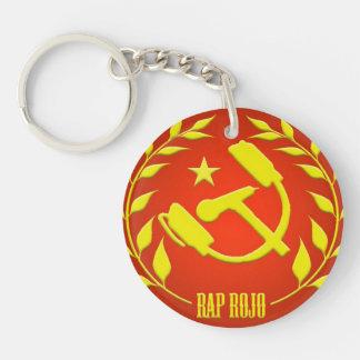 red Rap key ring Keychain