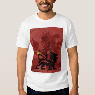 Red Ras Lion Tee by Skidone