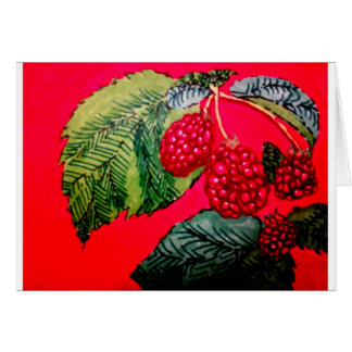 Red Raspberries Card