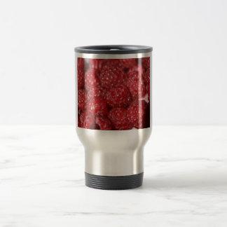 Red Raspberries close up photograph Travel Mug