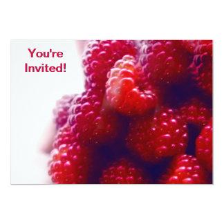 Red Raspberries Photo 5x7 Paper Invitation Card