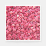 red raspberries template to customize personalize napkin