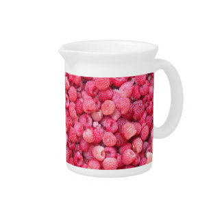 red raspberries template to customize personalize pitchers