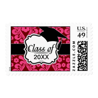 red raspberry and brown mod damask stamps
