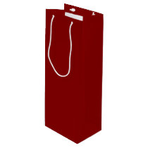 Red Raspberry-Colored Wine Gift Bag