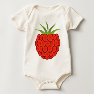 Red Raspberry Line Art Baby Bodysuit
