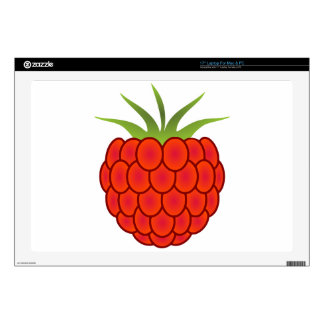 """Red Raspberry Line Art Decals For 17"""" Laptops"""