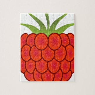 Red Raspberry Line Art Puzzle