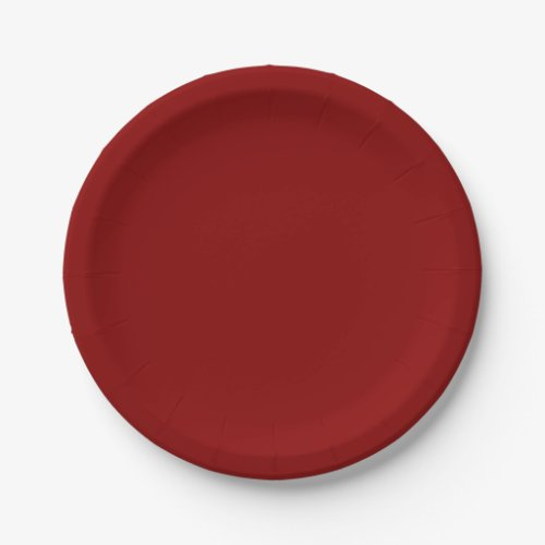 Red Raspberry Paper Plates