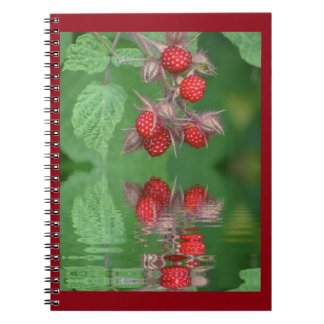 Red Raspberry Reflections Spiral Notebook