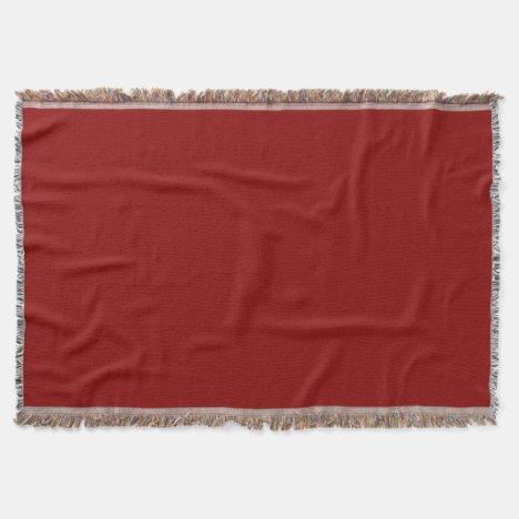 Red Raspberry Throw Blanket