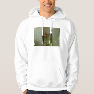 red rat snake in fence head up hooded sweatshirt