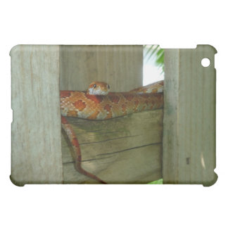 red rat snake in fence head up iPad mini cases