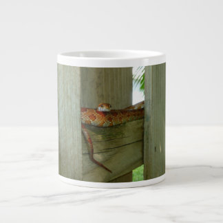 red rat snake in fence head up extra large mug