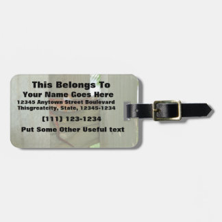 red rat snake in fence head up travel bag tag