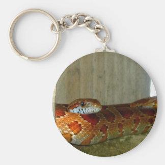 red rat snake side head basic round button keychain