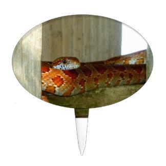 red rat snake side head cake topper