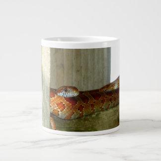 red rat snake side head giant coffee mug