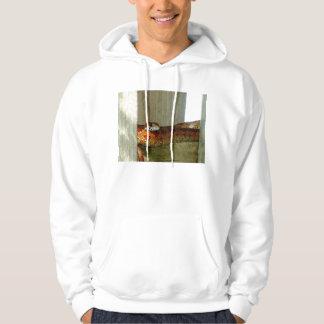 red rat snake side head hooded sweatshirt