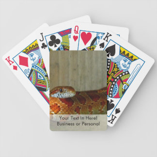 red rat snake side head bicycle playing cards