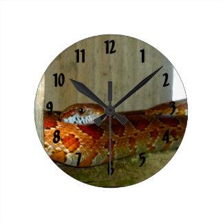 red rat snake side head round clock