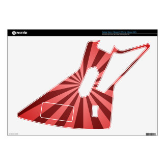 Red ray design guitar hero decals