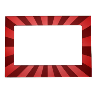 Red ray design picture frame magnet