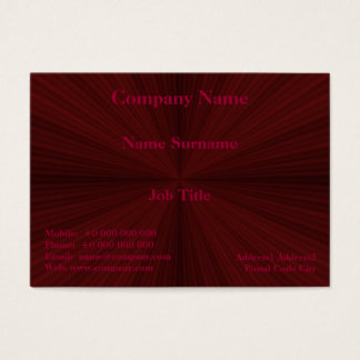Red Rays Quartered  Chubby Business Card