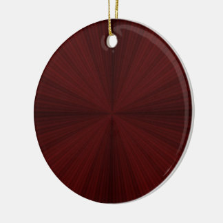 Red Rays Quartered Ornament