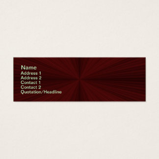 Red Rays Quartered Skinny Business Card