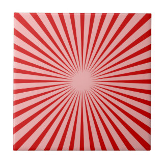 Red Rays Tile