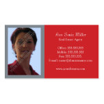 Red Real Estate Business Cards