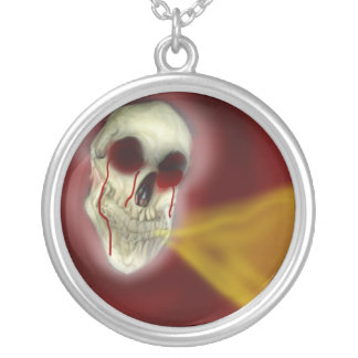 Red Reaper Fire Breathing Skull Necklace