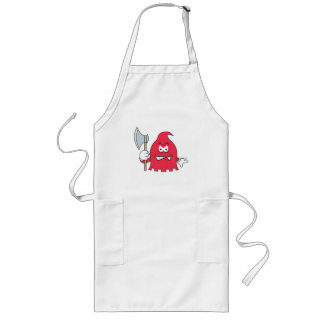Red Reaper Smiley Face Long Apron